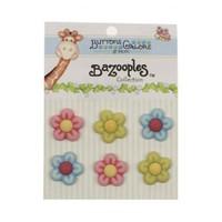 Kartopu Çiçekli Dekoratif Düğme - Bz108