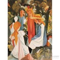 Four Girls, August Macke (1500 Parça Puzzle)