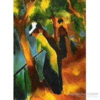 Women Taking A Bath With A Town On The Back, August Macke (1500 Parça Puzzle)