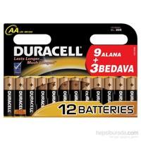 Duracell Alkalin (Aa) Kalem Pil Ekonomik Paket 9+3 Adet