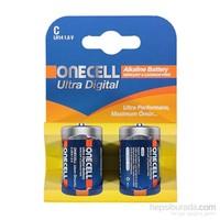 Onecell Ultra Dijital Alkalin C Boy Pil 2`Li