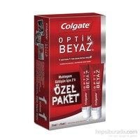 Colgate Optik Beyaz 75Ml 2li Özel Paket