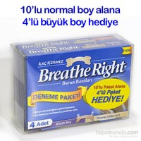 Breathe Right Burun Bandı Normal Boy-4'Lü Büyük Boy Paket Hediye