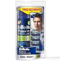 Gillette Fusion ProGlide Yedek Tıraş Bıçağı 4'lü (Hassas Ciltler İçin Tıraş Jeli Hediye)