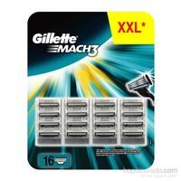 Gillette Mach3 Yedek Tıraş Bıçağı 16'lı
