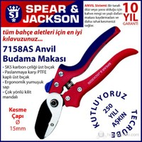 Spear And Jackson 7158As Budama Makası Profesyonel Anvil Ve Yaylı Sap