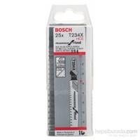 Bosch - Kademeli Artan Dişli Serisi Ahşap İçin T 234 X Dekupaj Testeresi Bıçağı - 25'Li Paket