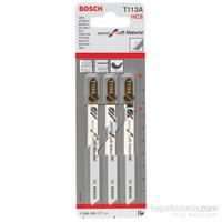 Bosch - Yalıtım Malzemeleri Ve Aşındırıcı Malzemeleriçin T 113 A Dekupaj Testeresi Bıçağı - 3'Lü Paket