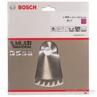 Bosch - Çoklu Malzeme İçin Daire Testere Bıçağı - 160 X 20/16 X 2,4 Mm, 42 Diş