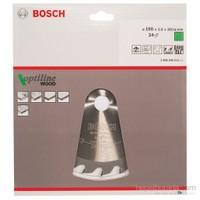 Bosch - Optiline Serisi Ahşap İçin Daire Testere Bıçağı - 190 X 20/16 X 2,6 Mm, 24 Diş