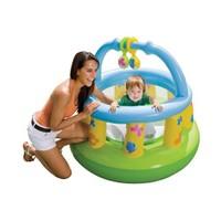 İntex Yumuşak Tabanlı Oyuncak Aksesuarlı Bebek Oyun Parkı (130x104 Cm)