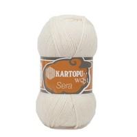 Kartopu Sera Beyaz El Örgü İpi - K025