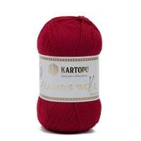 Kartopu Lamb's Wool Kırmızı El Örgü İpi - K122