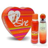 She Is Happy Edt 50 Ml Kadın Parfümü + 150 Ml Deodorant Set