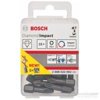 Bosch - Diamond Impact Serisi Elmas Kaplı Vidalama Ucu, Pz2, 25Mm (X10)