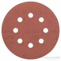 Bosch - Eksantirik Zımpara Kağıdı 5'Li, 125 Mm 180 Kum 8 Delik
