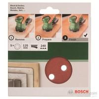 Bosch - Eksantirik Zımpara Kağıdı 5'Li, 125 Mm 240 Kum 8 Delik