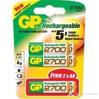GP Şarjlı Pil AA Kalem 2600 mAH (4+2) 6'Lı Paket