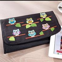 Duftin Kuş Desenli Tablet Bilgisayar Kılıfı Etamin Kiti - 19657-Aa0364