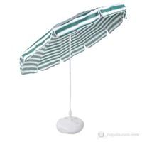 Belde Şemsiye - F 200 Delüks Yeşil Beyaz