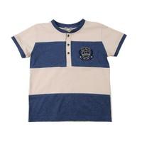 Zeyland Erkek Çocuk Mavi T-Shirt Dug.Bis.Yaka K-41M663kcr54