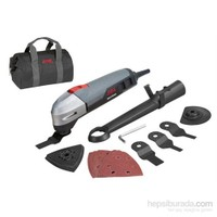 SKIL Masters 220 Watt Multitool (Çantalı + 6 zımpara + 4 adet kesim bıçağı - Profesyonel Seri)