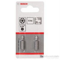 Bosch - 2'Li Paket - Ekstra Sert Seri T7H Security-Torx® Vidalama Ucu - T7H, 25 Mm