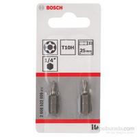 Bosch - 2'Li Paket - Ekstra Sert Seri T10H Security-Torx® Vidalama Ucu - T10H, 25 Mm