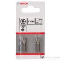 Bosch - 2'Li Paket - Ekstra Sert Seri T30H Security-Torx® Vidalama Ucu - T30H, 25 Mm