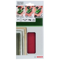 Bosch - Titreşimli Zımpara Kağıdı 10'Lu, 93 X 185 Mm 240 Kum 8 Delik