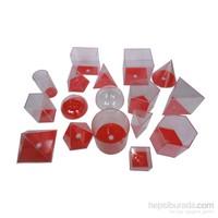 Try Geometrik Cisimler Takımı (Şeffaf Plastik) 17 Parça 10 Cm