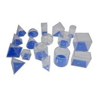 Try Geometrik Cisimler Takımı (Şeffaf Plastik) 17 Parça 5 Cm
