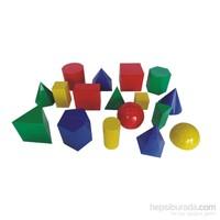 Try Geometrik Cisimler Takımı (Renkli Plastik) 17 Parça 10 Cm