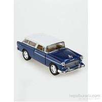 Kinsmart 1955 Chevy Nomad Çek Bırak 1/40 Die Cast Model Araç Mavi