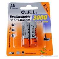 C.F.L. HR-3U 3000 maH Şarjlı Kalem Pil