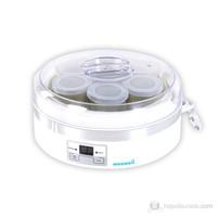 Weewell Dijital Yoğurt Makinesi - 1,5L yoğurt kabı ve 7 adet kapaklı cam kap
