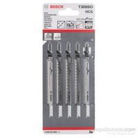 Bosch - Ekstra Temiz Kesim Serisi Ahşap İçin T 308 Bo Dekupaj Testeresi Bıçağı - 5'Li Paket