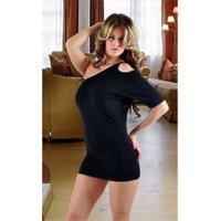 Terry Pau TP091253 Omuz Açık Mini Elbise
