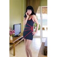 Terry Pau TP102701 Fantezi Mini Elbise