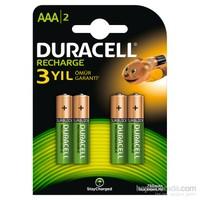 Duracell Şarj Edilebilir AAA İnce Kalem Pil 750 mAh 4'lü