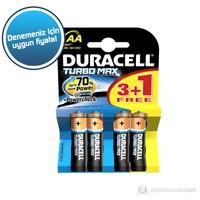 Duracell Turbo Max Alkalin AA Kalem Pil (3+1) 4'lü Paket