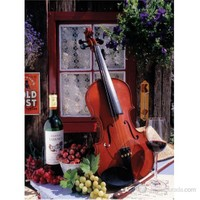 Art Puzzle 1000 Parça Puzzle Violin And Stillife With Grapes