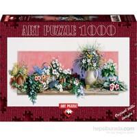 Art Puzzle 1000 Parça Çiçek Dünyası Puzzle (Özel Panorama)