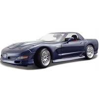Maisto Chevrolet Corvette 2001 Model Araba 1:18 Special Edition Lacivert