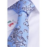La Pescara Mavi Şal Desen Klasik Kravat Sk1889