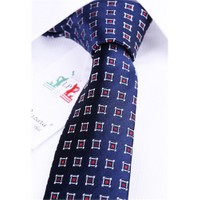 La Pescara Lacivert Motif Desen Slim Kravat Sk5122