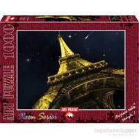 Art Puzzle 1000 Parça Neon Bir Dilek Tut Eiffel Paris