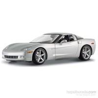 Maisto Chevrolet Corvette Coupe 2005 Model Araba 1:18 S/E Gümüş