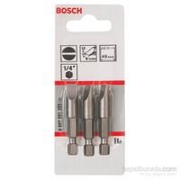 Bosch - 3'Lü Paket - Ekstra Sert Seri Vidalama Ucu - S 1,2X8,0, 49 Mm