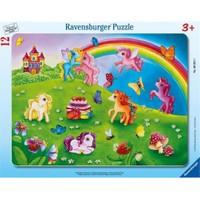 Ravensburger Pony'lerın Renkli Dünyası (12 Parça, Çerçeveli)